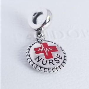 Pandora Silver Nurse Dangle Charm, Mixed Enamel
